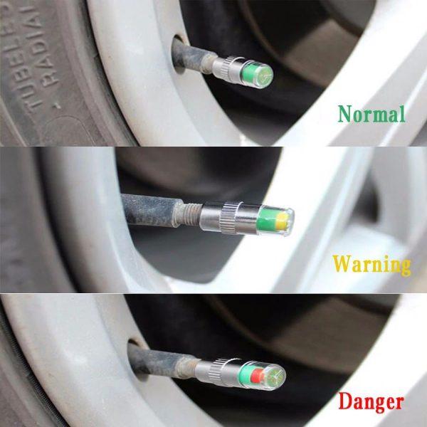 Tire Pressure Monitor Indicator Cap - alert