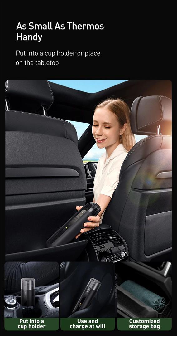Portable Car Vacuum Cleaner - storage