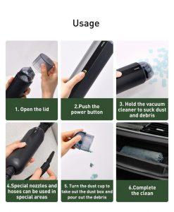 Portable Car Vacuum Cleaner - usage