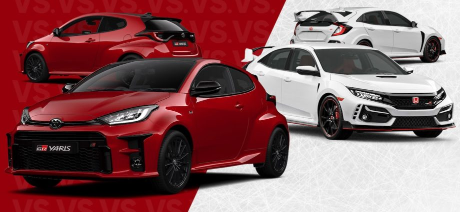 Honda Civic Type R vs. Toyota GR Yaris