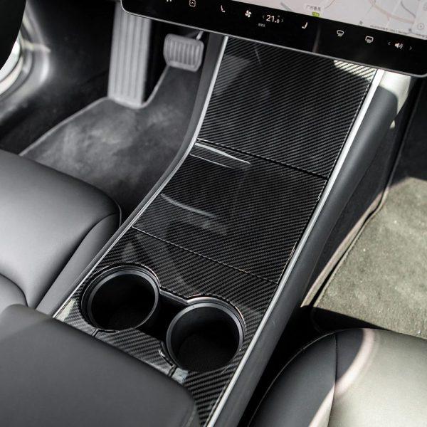Center Console Wrap - Tesla Model 3 - Tesla Y-Carbon