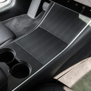 Center Console Wrap - Tesla Model 3 - Tesla Y-Carbon2