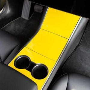 Center Console Wrap - Tesla Model 3 - Tesla Y-Yellow