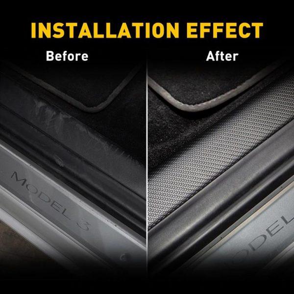 Protective Door Sill Strip For Tesla Model 3-1